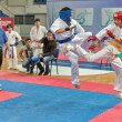 Competition on kyokushinkai karate. — Stock Photo #41549313