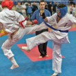 Competition on kyokushinkai karate. — Stock Photo #41549323