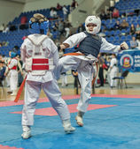 Competition on kyokushinkai karate. — ストック写真