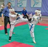 Concorrenza sul karate kyokushinkai. — Foto Stock