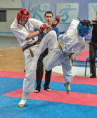 Competition on kyokushinkai karate. — Stok fotoğraf