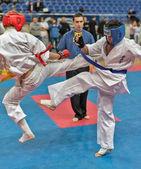 Konkurs na dwa karate. — Zdjęcie stockowe