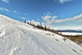Ski resort Kirovsk, Murmansk region, Russia — Stock Photo