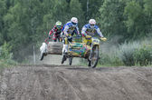 Summer motocross on the territory of Ramenskoye district, Moscow — Stock Photo
