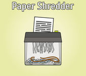 Paper shredder — Stock Vector