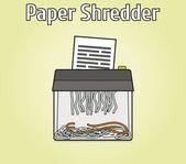 Paper shredder — Stock Vector