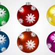 Christmas Balls Vector Set — Stock Vector