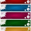Set of Winter Christmas Horizontal Banners — Stock Photo