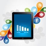 Social Media Smart Phone Concept — Stock Vector #17391731