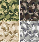Different Camouflage Seamless Patterns — Stock Vector