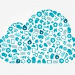 Cloud Computing Service Concept - Stockvectorbeeld