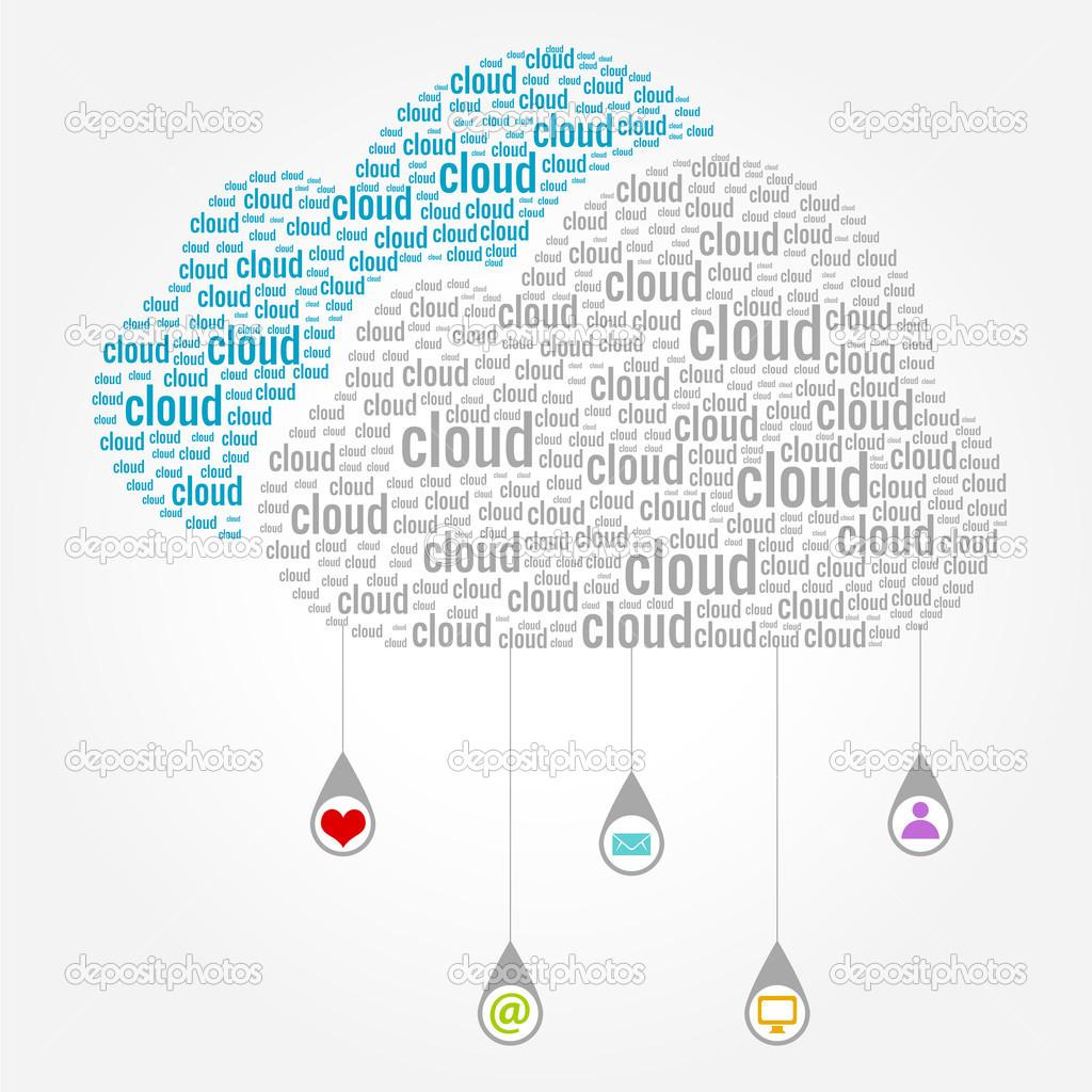 云计算词语概念 - 图库插图图片