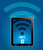 Nfc in der Nähe von Feld-Kommunikationskonzept — Stockvektor