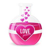 Illustration vectorielle de potion de l'amour — Vecteur