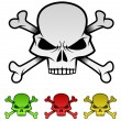 Evil Skulls Illustration Set — Stock Vector