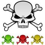 Evil Skulls Illustration Set — Stock Vector #25832015
