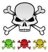 Evil Skulls Illustration Set — Stock Vector