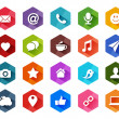 Flat Social Media Icons for Light Background  — Stock Vector