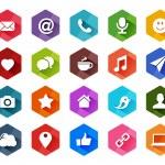 Flat Social Media Icons for Light Background — Stock Vector #27780767