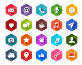 Flat Social Media Icons for Light Background — Stock Vector