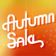 Autumn Sale Advertising Banner — Stock Vector