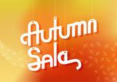 Autumn Sale Advertising Banner — Stock Vector