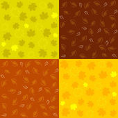 Set of Autumn Seamless Patterns — Stock Vector