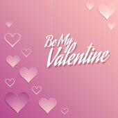 Valentine Background with Hearts Decorations — Stock Vector