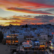 Stock Photo: White town sunset