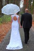 Bröllops promenad — Stockfoto