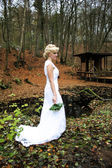 Autumm Bride — Stock Photo