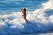 Joyful wave — Stock Photo