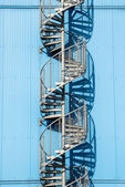 Espiral blue staricase — Stock Photo