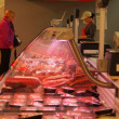 Display of a butcher seen from the side - Foto de Stock