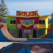 Foto Stock: Colourful skatepark