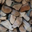 Firewood background — Stock Photo