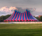 Circus tent red blue green — ストック写真