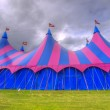 Stock Photo: Big top circus tent on field