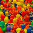 Stock Photo: Background of rubber ducks