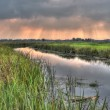 Hdr image of lowland river — Stock Photo