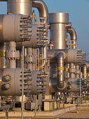 Detail of a natural gas processing plant — Stock Photo