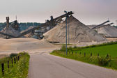 Sand mining site — Stock Photo