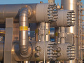 Close up of a modern natural gas processing plant — Stock Photo