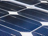 Detail of a solar panel — Stock Photo