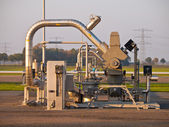 Natural gas well — Stock Photo