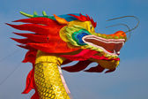 Multicolored Chinese dragon — Stock Photo
