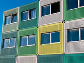 Students housing in varied colors — Stock Photo
