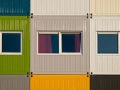 Apartments in cargo containers — Stock Photo