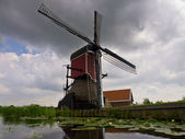 Historic dutch vintage windmill — Stock Photo