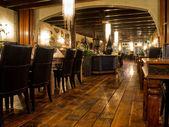Interior of a vintage restaurant — Stock Photo